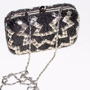 Juicy Couture beaded ZigZag Minaudiere Clutch
